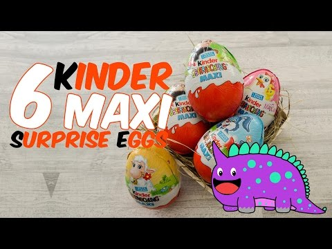 6 Kinder Surprise EGGS |  let's see what 's inside | Disyney  Princess