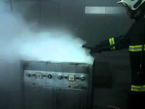 FireBug Company BacPac extinguishing a F Class fire.