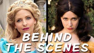 Behind the Scenes of Cinderella vs. Belle: Princess Rap Battle!Subscribe: http://tiny.cc/WAsubWatch the Cinderella vs. Belle battle: https://youtu.be/VeZXQf77hhkNerdy Wordy Merch: http://tiny.cc/nerdywordy** BEHIND THE SCENES VIDEO CREDITS **Interview / On-Set Behind the Scenes Camera / Add'l Editing: Mike ManasewitschEditor: Steve GossettMake-up Artist: Amy WienerStill Photographer / On-Set Behind the Scenes Camera: Candace Ostler, T.C. De WittComposer: Ryan ElderInterview Location: YouTube Space LAVery Special Thanks: Peyton Skelton** CINDERELLA VS BELLE: PRINCESS RAP BATTLE CREDITS **Writer / Exec. Producer / Director / Belle: Whitney Avalon http://whitneyavalon.com  http://twitter.com/whitneyavalon Writer / Producer / Director / Editor: Steve Gossett http://stevegossett.com  http://twitter.com/thestevegossett  http://facebook.com/thestevegossett  Cinderella: Sarah Michelle Gellar http://facebook.com/sarahmichellegellar http://twitter.com/sarahmgellar  http://instagram.com/sarahmgellar/Goldilocks: Emily Goss http://twitter.com/emilygoss650Buttercup: Ali Williams http://twitter.com/aliactsLittle Red: Courtney Merritt http://twitter.com/otruenycPocahontas: Nikki Mejia http://www.nikkimejia.com/Gaston: Michael Harris http://twitter.com/harris_actor888Cinematographer: Peyton SkeltonAssistant Camera: Vanessa Ward2nd AC / Data Tech: Alex CasonComposer / Music Mix / Mastering: Ryan Elder http://www.ryaneldermusic.comMake-up / Hair: Patty Jarvis, Amy WienerMake-up Artist for Ms. Gellar: David De LeonCostume Designer: Sarah JeanneProduction Manager: Leia CrawfordStaff Writer: Michael Sullivan Recording Engineer: Mario Gorito http://mariogorito.comKey Grip: John MarionPA/Grip: Jim BurzelicGaffer: Dan Colmenares1st AD: T.C. De WittSet Decoration / Sound Engineer: Fionnegan Justus MurphyCraft Service / Stills: Candace Lauren OstlerAsst. Editor / VFX / BTS Camera: Mike ManasewitschPlayback: Alex FrewPA: Alexa BorderTechnical Advisor: Margaret HelmerLocation: Matt Truebe http: