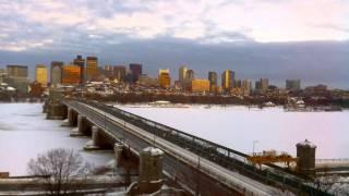 Sunset Time-Lapse Over Longfellow Bridge - Feb 10, 2015