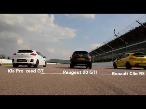 Kia Pro ceed GT vs Peugeot GTI vs Renault Clio RS