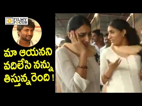 Nani Wife Anjana Funny with Media @Tirumala | Nani with Family Visits Tirumala - Filmyfocus.com