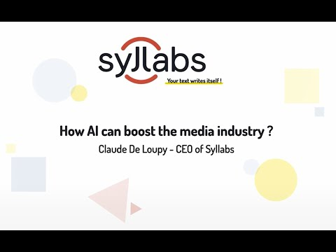 How can AI boost the media industry – Keynote – Claude de Loupy