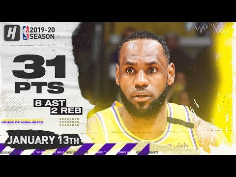 LeBron James 31 Points Full Highlights | Cavaliers vs Lakers | January 13, 2020