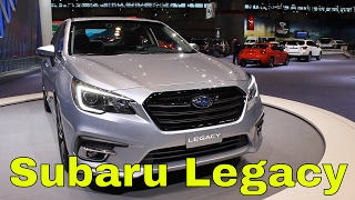 Subaru refreshed the Legacy for 2018 with an updated interior and restyled bumpers. Check out all my videos from the Chicago auto show here: https://www.youtube.com/playlist?list=PLsrCk-C13kG2HPnd7p1sxKOmxUWjigXyR