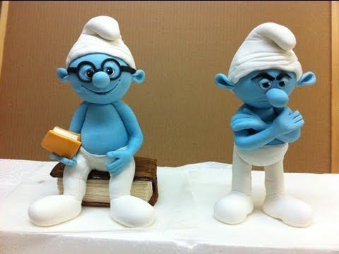 sugar paste smurf