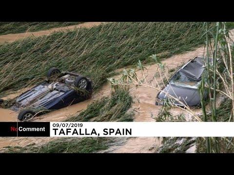 Ισπανία: Ένας νεκρός και μεγάλες καταστροφές από τις πλημμύρες…