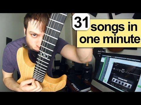 31 guitar riffs in one minute