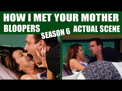 How I Met Your Mother | Season 6 Bloopers vs Actual Scene