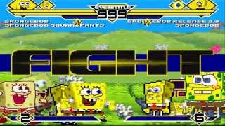 Spongebob's Party 4on4 Patch MUGEN 1.0 Battle!!!