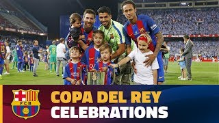 Copa del Rey final celebrations at Vicente Calderon
