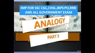 #new #course #on #ANOLOGY #Hi friends ...#here we are taking the all topic related to #ANALOGY,#Which are very important in all government exams,#Specially in MPSC,UPSC,IBPS PO/CLERK/RRB, SSC CGL/CHSL/CPO.#Please kindly watch this video and like also #Share video as u can THANK U FRIENDS,,,,,,