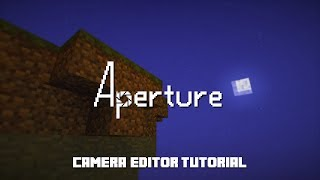 Hello there! My name is McHorse, and this is Aperture camera editor tutorial. The camera editor is a great alternative to camera command. In other mods, you ...
