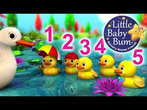 Five Little Ducks | Nursery Rhymes | from LittleBabyBum! (видео)