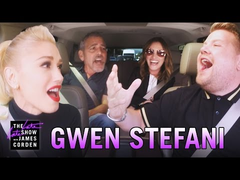 Gwen Stefani Lets George Clooney and Julia Roberts Hitch a Ride for Her Carpool Karaoke with James Corden