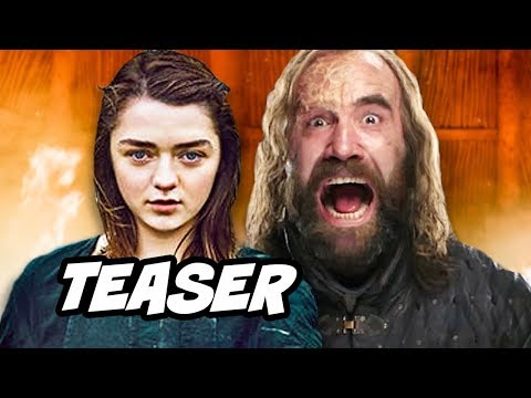 Game Of Thrones Season 8 Teaser Arya Stark's List and Cleganebowl Scene Easter Egg