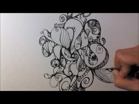 Speed Drawing - Zentangle Inspired Art - Kritzelei #28 (lang)