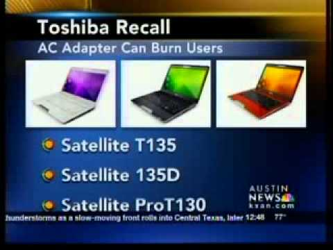 0 Toshiba Recalls 41,000 Notebooks Over Risk of Burns