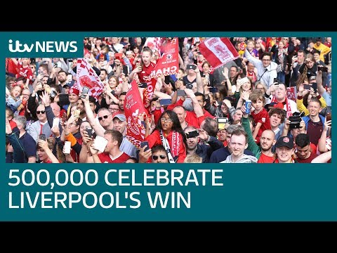 Thousands celebrate Liverpool's win at team victory parade | ITV News