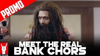 After Dhoom 1-2 & 3, here comes the real Bank Chor. Catch the Bank Chors on 16th June in the nearest theatres.Enjoy & stay connected with us!►Subscribe to YFilms: http://goo.gl/GLdkWI►Like us on Facebook: https://facebook.com/YFilms►Follow us on Twitter: https://twitter.com/y_films►Follow us on Instagram: https://www.instagram.com/yfilmsofficial►Circle us on YRF G+: https://plus.google.com/+yfilmsMovie Credits:Director: BumpyProducer: Ashish PatilStarring: Riteish Deshmukh, Vivek Anand Oberoi, Rhea ChakrabortyAlso starring: Sahil Vaid, Bhuvan Arora, Vikram ThapaBackground Score: Shri Sriram & SuperbiaMusic: Shri Sriram, Rochak Kohli, Kailash Kher & Shameer TandonChoreographer: Adil Shaikh, Those Guys ProductionsSound: Ganesh Gangadharan & Sameer Kumar PatraRe-Recording Mixer: Anuj Mathur, Y-FilmsCostume Designer: Maxima BasuCreative Executive Producer: Nikhil TanejaProduction Designer: Aparna RainaEditor: Saurabh KulkarniCasting Director: Shanoo SharmaAssociate Producer: Aashish SinghDialogues: Ishita Moitra UdhwaniStory: Baljeet Singh Marwah & BumpyScreenplay: Baljeet Singh Marwah, Bumpy, Omkar Sane & Ishita Moitra UdhwaniDirector of Photography: Adil AfsarRelease Date: 16 June 2017Synopsis:Introducing the worst bank Chor EVER: Champak Chandrakant Chiplunkar, a simple Marathi manoos played by Riteish Deshmukh who picks the worst day possible to rob a bank. To make matters worse, he recruits 2 idiots from Delhi who've never even picked a pocket in their lives. Now top that off with the craziest bunch of hostages including a high-strung housewife, a hyper chef, a possibly undercover cop… and Baba Sehgal. How could it be worse, right?Wrong! Enter tough as nails supercop, CBI officer Amjad Khan played by Vivek Anand Oberoi, who shoots first and interrogates later. And a mad media circus outside led by fashion journo turned crime reporter Gayatri Ganguly aka Gaga played by Rhea Chakraborty. And you know the Bankchors are up for the worst day of their lives. Yet. The film promises to be a crazy roller-coaster ride with thrills, chills and certainly lots of spills.Self-confessedly India's STUPIDEST comic thriller, Bank Chor, directed by Bumpy and produced by Ashish Patil, is all set to embarrass its makers when it releases in theatres on June 16.