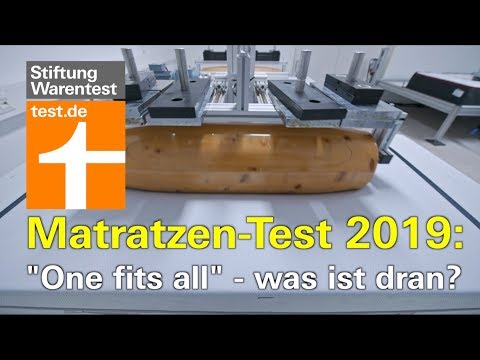 Test Matratzen 2019: »One fits all« - was ist dran?