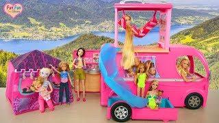 Download Video boneka Barbie Kemping, Berkemah mobil dengan seluncuran air - Barbie Mainan MP3 3GP MP4