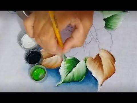 Pintar Folhas Verdes e Secas
