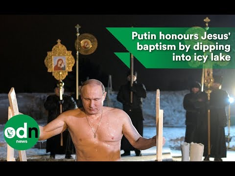 Putin honours Jesus' baptism by dipping into icy lake
