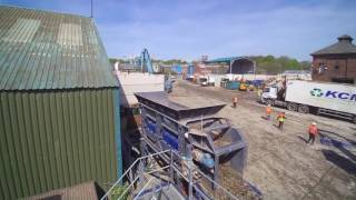 BlueMAC Fines Clean Up Plant incorporating flip flow screen and air density seperator