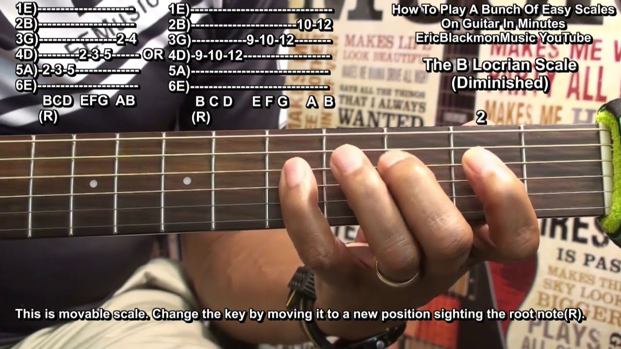 How To Play 12 Guitar Scales In Minutes – Major Minor Diminished + Exotic & Modes