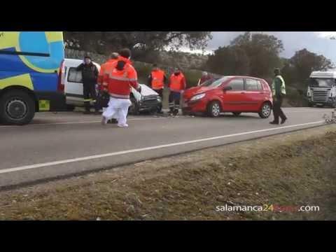 Accidente en Berrocal de Huebra