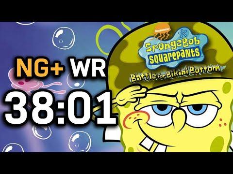 SpongeBob SquarePants: Battle for Bikini Bottom NG+ Speedrun in 38:01 (WR on 9/2/2020)