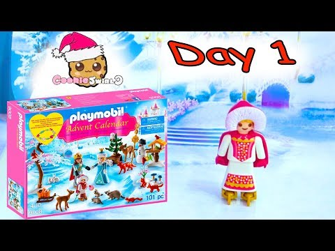 Playmobil Holiday Christmas Advent Calendar Day 1 Cookie Swirl C Toy Surprise Video