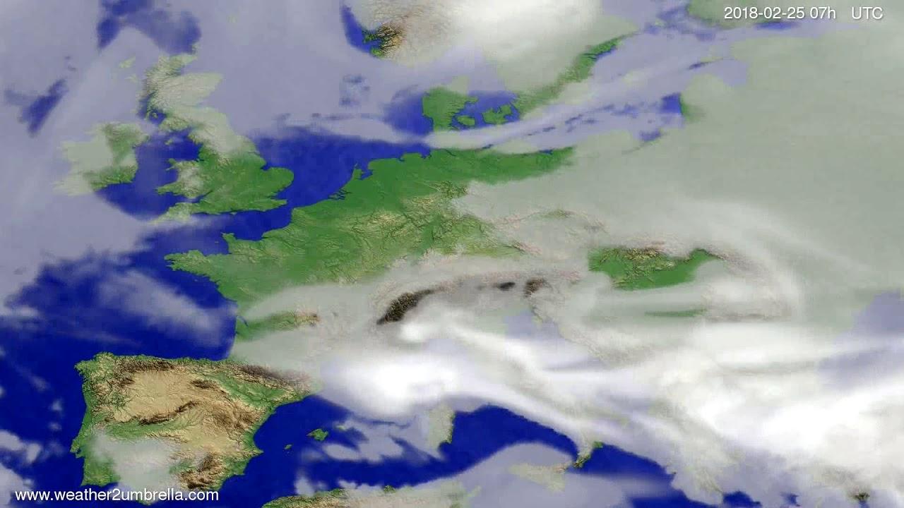 Cloud forecast Europe 2018-02-21