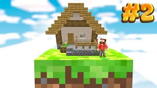 Minecraft Skyblock BUT it's on one block.. #2 (I built a house.)