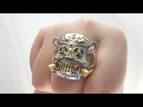 The Expendable Skeleton Skull Rings -2014 Stallone Lucky Ring for sale