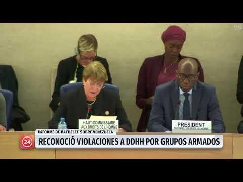 Bachelet critica represión en Venezuela y dice que sanciones pueden agravar la crisis (VIDEO)