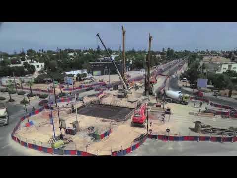 Construction en 10 jours seulement de l'ouvrage d'art de la trémie Sidi Abderramhan sous le tramway