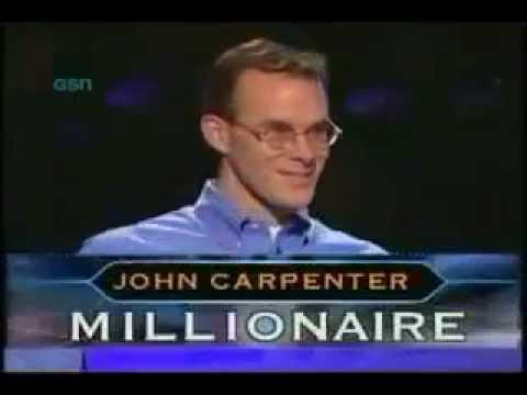 Millionaire - John Carpenter became the first millionaire on the United States version of the game show Who Wants to Be a Millionaire on November 19, 1999. He held the rec...