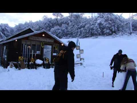 Brincando com a neve em Ushuaia