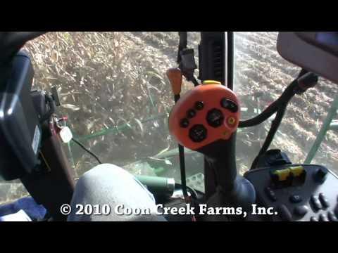 Harvesting down corn near Sullivan, Illinois August 31st, 2010