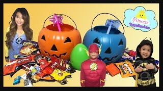 HALLOWEEN TRICK OR TREAT for Toy Egg Surprises and Kids Candy with Princess ToysReview