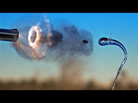 .38 Special vs Prince Ruperts Drop at 170,000 FPS - Smarter Every Day