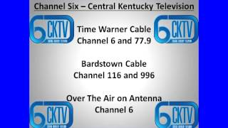 Watch CKTV on Time Warner 6 and 77.9 Bardstown 116 and 996
