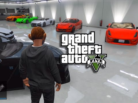 GTA 5 Online - Car Garage Tour (In-game Character Face Reveal)