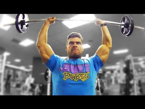 Overhead - BUFF DUDES T-SHIRT! http://store.buff-dudes.com Overhead Press is one of the best exercises in your arsenal; you've just gotta know how to do it right. In th...