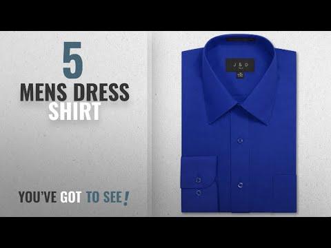 Top 10 Royal Blue Mens Dress Shirt [2018]: JD Apparel Men's Long Sleeve Regular Fit Solid Dress