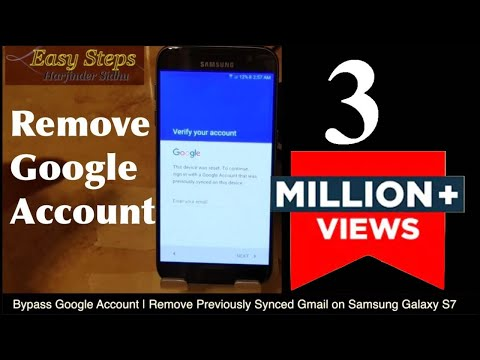 Bypass Google Account Verification Android | Remove Previously Synced Gmail on Samsung Galaxy S7