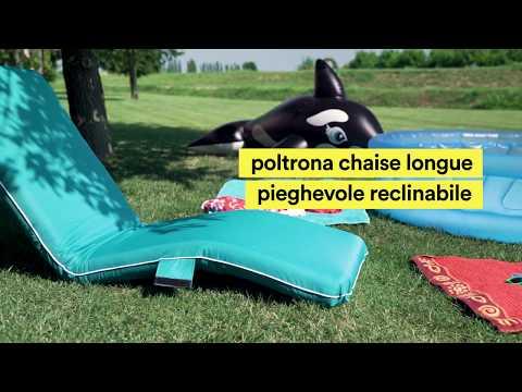 Poltrona chaise longue pieghevole reclinabile