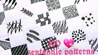 Subscribe for more such videos :) Hey Everyone ! 100 zentangle patterns part 2 video is finally up. :) Its my hard core dedication for my subscribers and peo...